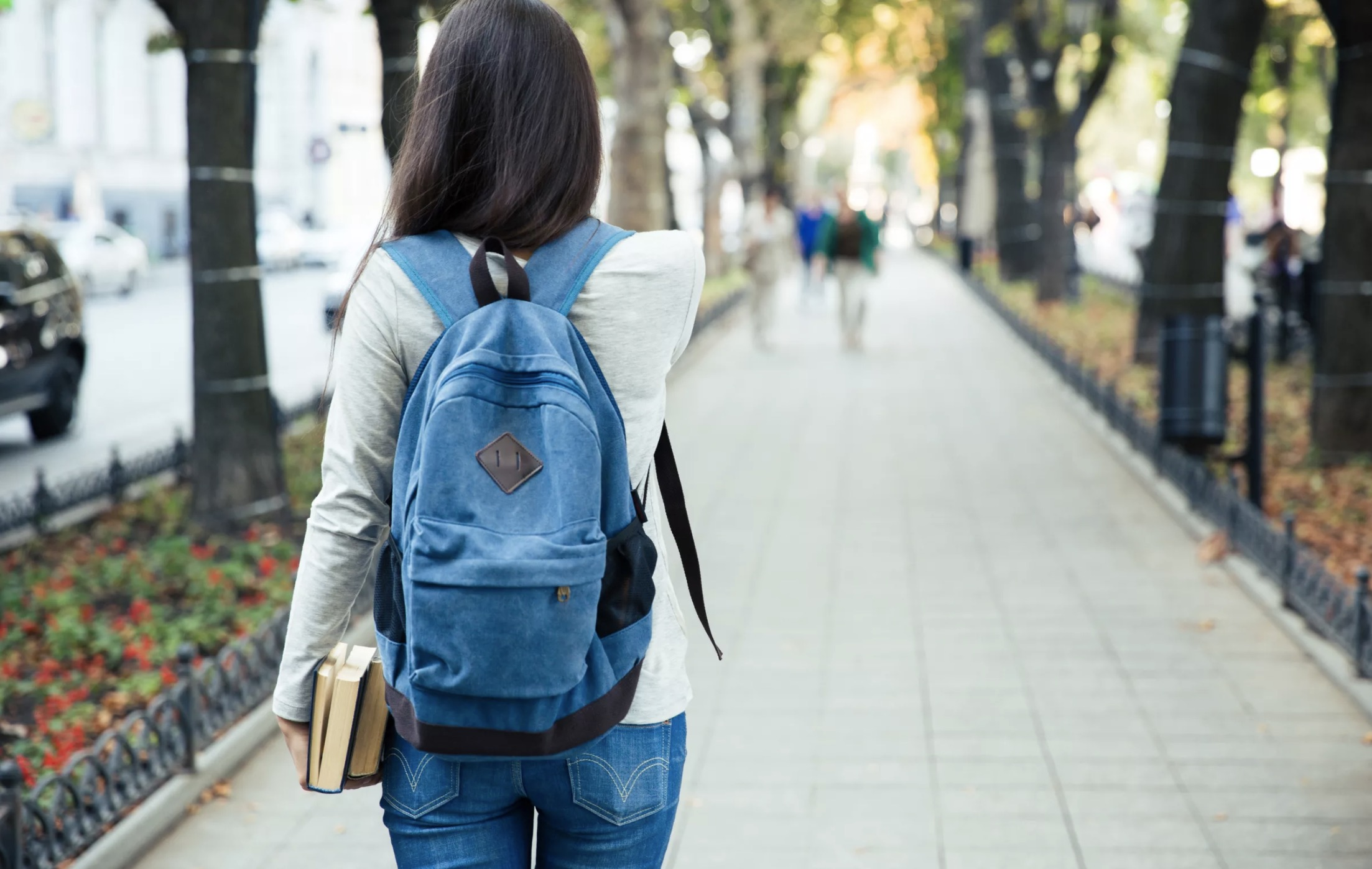 Female College Student with Backpack